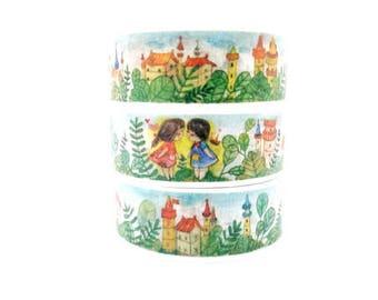 Design Washi tape Castle fairytale girl