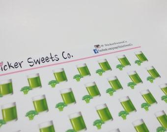 Veggie Green Juice Planner Stickers