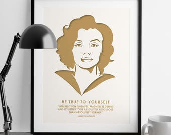 Marilyn Monroe - International Women's Day - Nevertheless She Persisted - Girl Power - Feminist Gifts - Girl Boss - Feminism Quotes