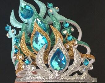 Elsa Crown,Frozen Headband,Frozen Elsa Headband,disney princess crown,Elsa Elastic headband,Princess Headband,Birthday Elsa crown,Elsa theme