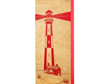 Lighthouse Wall Art - 6x12 | Lighthouse Decor | Lighthouse Art | Laser Engraved | Nautical Decor | Coastal Decor | Made in Maine