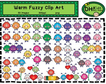 Warm Fuzzy  Clip Art - Digital Download - School Clip Art