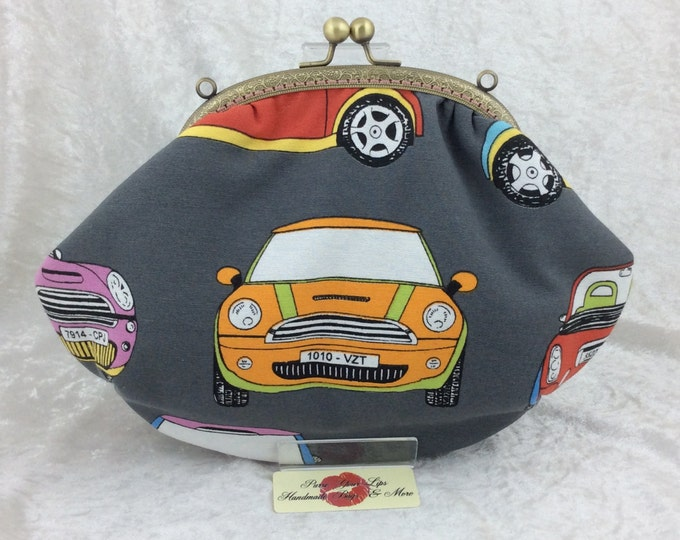 The Grace Mini-tasting frame bag. BMW Mini fabric purse handbag clutch handmade in England