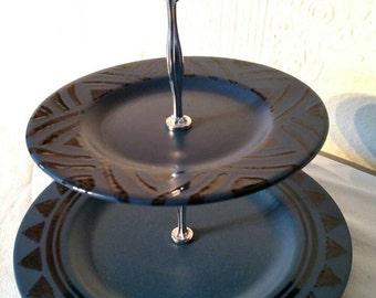 Pfaltzgraff Morning Light two tier serving platter