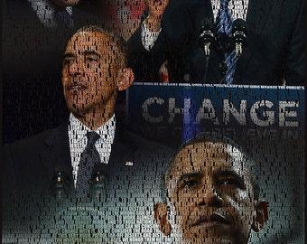Barack Obama Inaugural Address 2009 - Collage Poster(s)