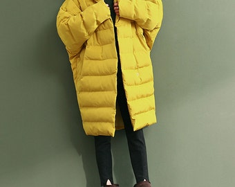 Women hooded coat cotton padded jacket parka warm outwear maxi coat plus size winter coat plus size clothing