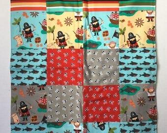 Pirate blanket for boy dolls, doll blanket, doll quilt, doll blankets, doll accessories, doll quilts