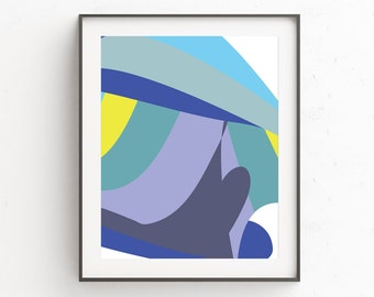 Minimalist Abstract Prints, Minimalist Abstract Wall Prints, Modern Abstract Wall Prints, Modern Minimalist Poster, Artwork, Modern Blue Art