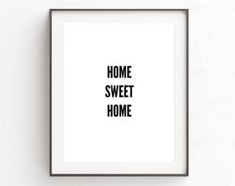 Home Sweet Home Sign | Digital Download | Housewarming Gift | Home Print | Wall Art | Gallery Wall Prints | First Home Gifts | Rustic Decor