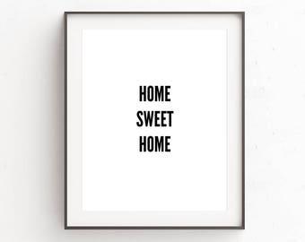 Home Sweet Home Sign | Digital Download | Housewarming Gift