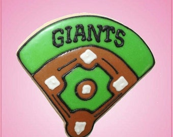 Pink Baseball Field Cookie Cutter