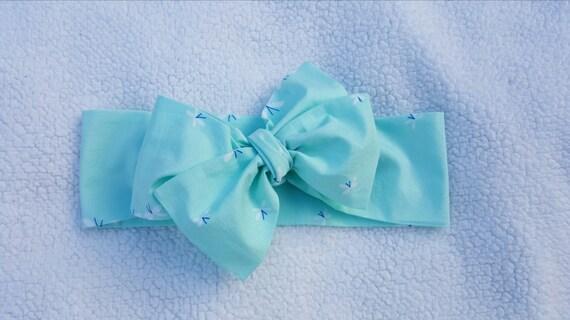 Light Blue- Headwrap head band hair accessory