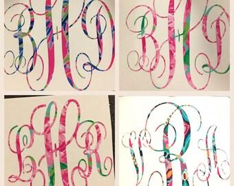 Lily Pulitzer Inspired Vinyl Monogram Decals