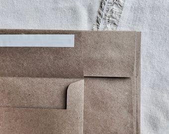 A7 Kraft Envelopes- A7 envelope - Wedding envelope - Brown envelope - Kraft brown envelope - Rustic Envelope - Set of 25