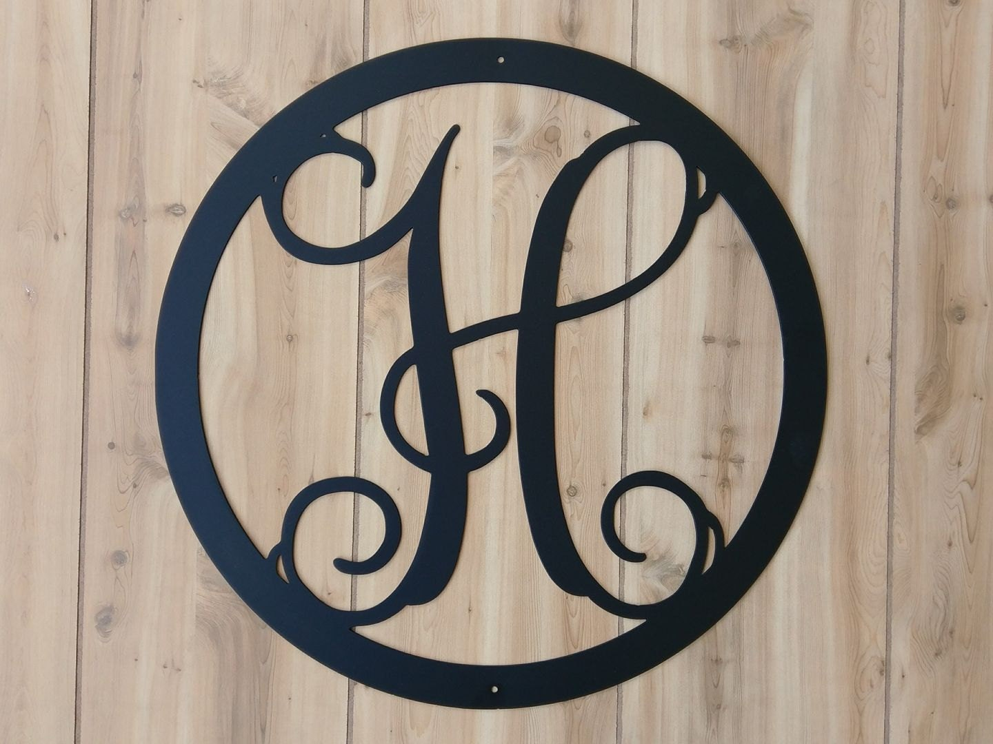front door monogramWeatherproof Monogram House Sign Monogrammed Wreath Monogram