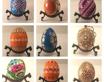 Decorated Easter Eggs Collection | Real Chicken Eggs