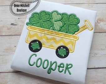 St Patricks Day Shirt Embroidered Toddler T-shirt, Embroidered T-shirt