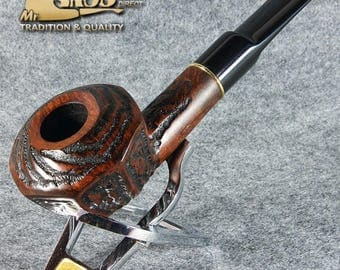 EXCLUSIVE hand made & carved BRIAR wood smoking pipe * BORGIA *