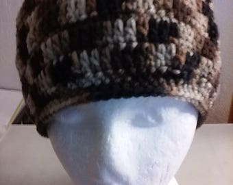 Coffee and Cream - Hand Crocheted Beanie