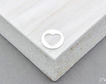 925 Sterling Silver Heart, Heart Charm, Heart Pendant, Little Heart, Silver Heart, Tiny Heart, Silver Stamping Blank, Jewellery making Heart