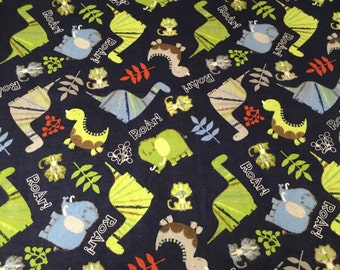 Dino Toss Flannel Baby/Toddler Blanket