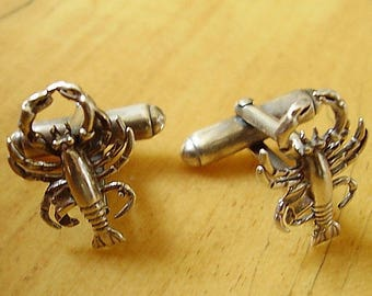 Lobster Sterling Silver Cufflinks