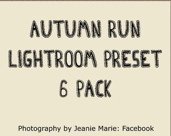 SALE!! Autumn, Fall, Lightroom Preset 6-Pack (lrtemplate)