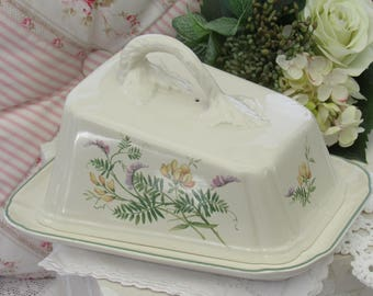 Vintage Cheese Dish, Royal Winton, Country Diary Collection, Large Cheese Dish, English Pottery,