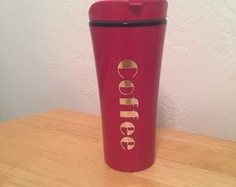 Plastic coffee travel cup