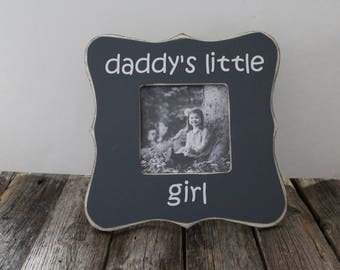 Daddy's Little Girl Frame Daddy Picture Frame Father's Day Gift Grey Picture Frame