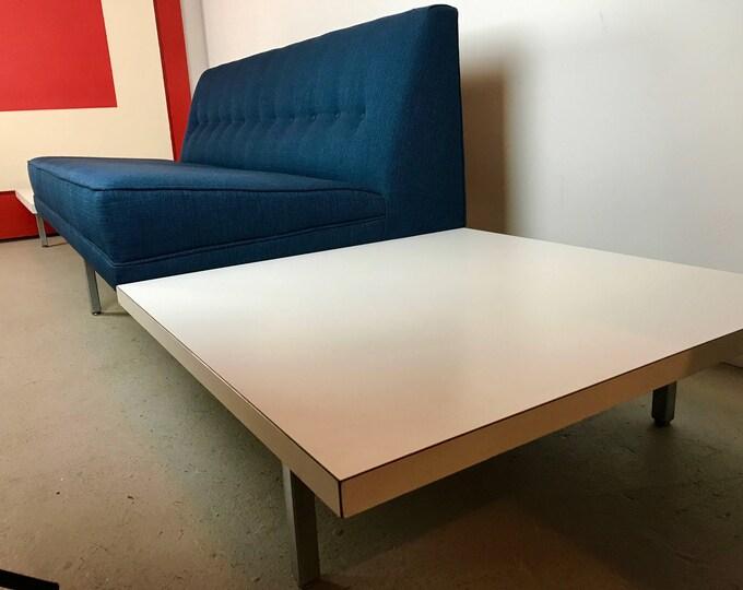 SOLD Mid Century Modern GEORGE NELSON for Herman Miller Blue Modular Sofa