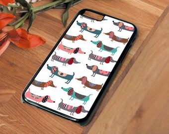 Dachshund Sausage Dog SD101 Beautiful Hard Phone Case Iphone 4 4S 5 5S SE 5C 6 6S 7