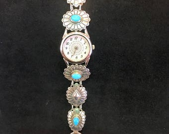 Sterling Silver Turquoise-like Watch!