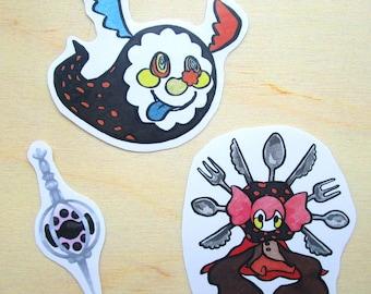 PMMM Charlotte Witch + Soul Gem Stickers ( Puella Magi Madoka Magica )