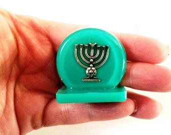 Menorah decoration,Israeli souvenir,Judaica gift,Gif for jewish ,Jewish gifts,Judaica decor,Candle holder, miniature Collective judaica