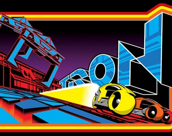 80's Disney Sci-Fi Classic Tron Poster Art custom tee Any Size Any Color