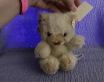 "Tuff Teddy Bear Russ NWTS 6"" Creamy brown velvety nose Caress Soft Pets"