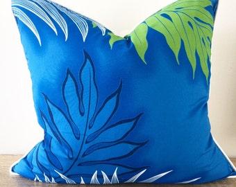 Cushion Tropical Deep Blue / White Tropical Reversible