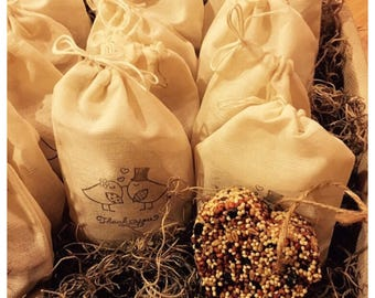100 Medium Birdseed Favors