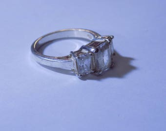 Vintage CZ Stone Sterling Silver ring