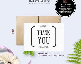 thank you cards, pdf, wedding thank you, thank you, thank you notes, thank you card set, wedding, thanks, thank you card, pdf template, 11