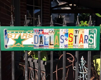 DALLAS STARS with logo - Dallas Stars Hockey license plate sign /