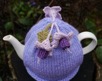 Lilac Tea Cosy Fuchsia Flowers