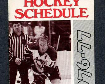 1976/77 Pittsburgh Penguins pocket schedule