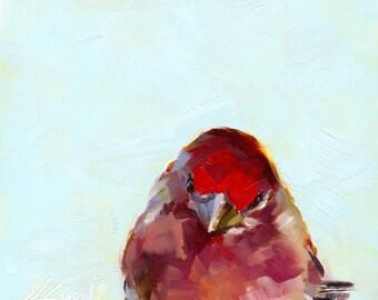 finch // print // giclee print // wall art // bird art // bird painting // home decor
