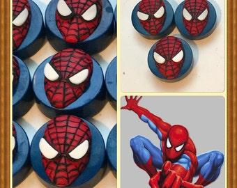 1 Dozen Spiderman Chocolate Covered Oreos -Boy's Birthday Favors -Dessert Table Treats