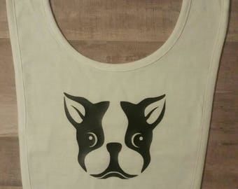 Baby Bib/Boston Terrier Clothes/Boston Terrier Bib/Dog Bib/Baby Boston Bib/