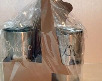 Bride and Groom Tumbler Set - Wedding Gift