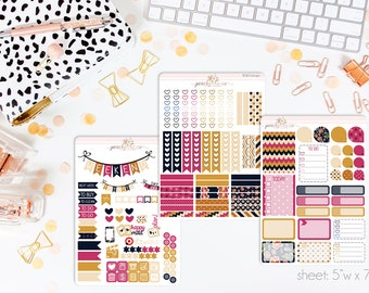 Draper VERTICAL Weekly Kit // 140+ Matte Planner Stickers // Perfect for your Erin Condren Life Planner // WKV0040