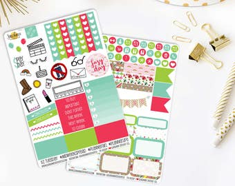 Mini Kit Monday Rainy Days | Made to fit any planner! 589L1-2